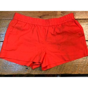JCrew Paperbag Pull On Shorts in Bright Coral